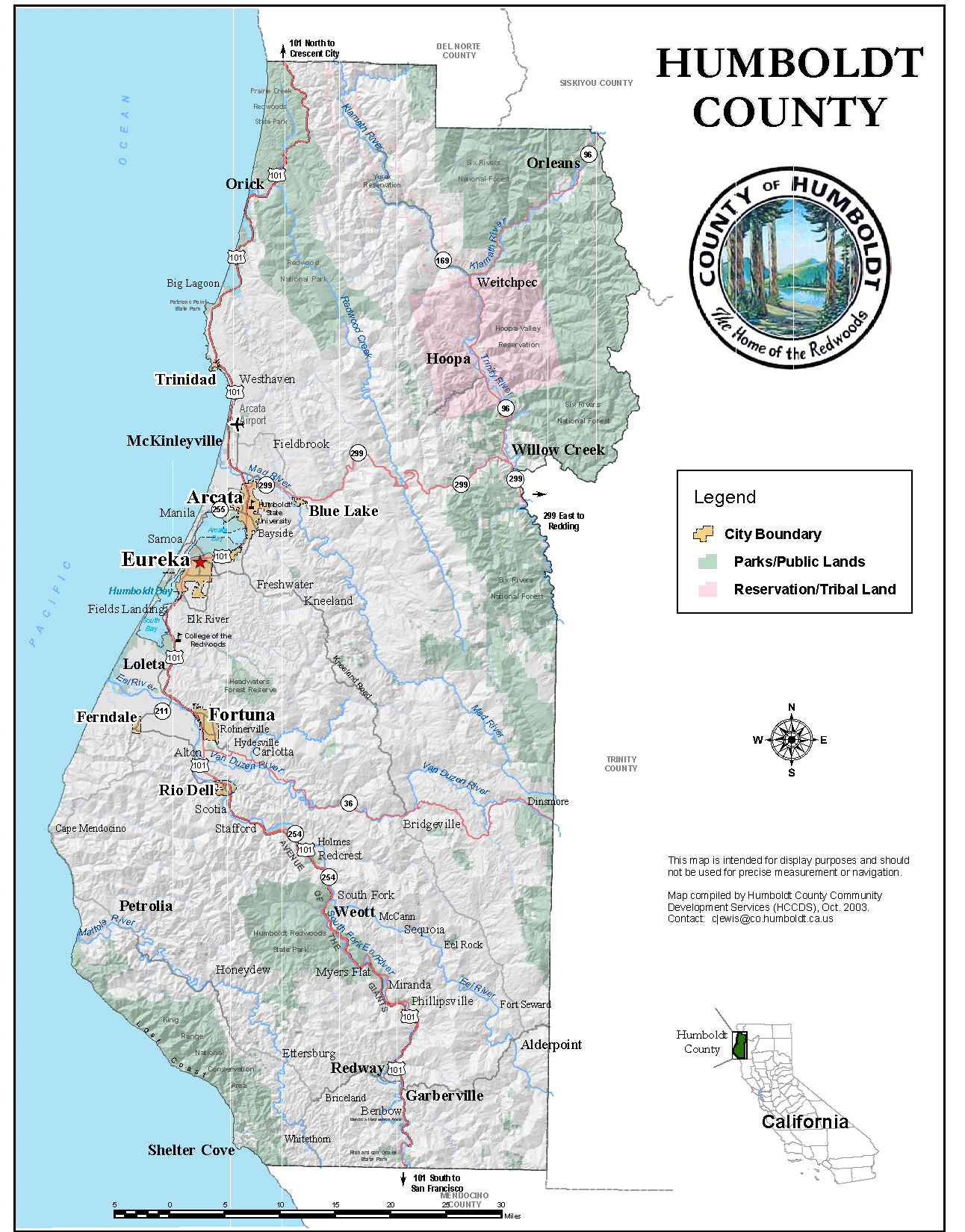 Map of Coverage Area